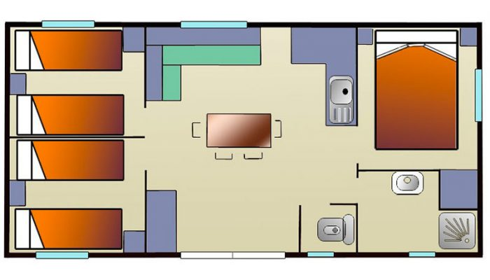 Plan du cottage confort 3 chambres