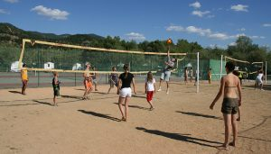 Beach Volley au camping en Haute Provence